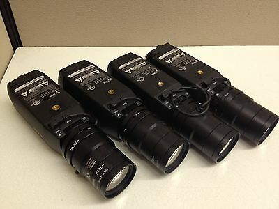 LOT of 4 Ultrak KC552BCN Color CCTV Camera w/ 7-70mm Lens CCD Long Range 24V AC