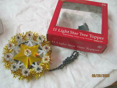 Vintage Holiday Time 11 Light Christmas Tree Wreath Topper #6