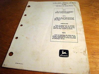 John Deere 100i Integral Chisel Plow Parts Book List Manual Catalog Pc829 Jd Oem