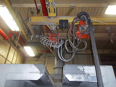 Pneumatic Air Saturn Tractor Paint Spray Booth Trolley Bridge Crane System