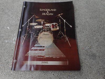 VINTAGE MUSICAL INSTRUMENT CATALOG #10004 - 1979 SLINGERLAND & DEAGAN DRUMS  segunda mano  Embacar hacia Argentina