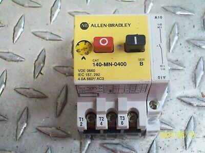 Allen Bradley 140-MN-0400 Manual Starter 2.4 to 4 Amp W/ 140-A10 FREE SHIPPING