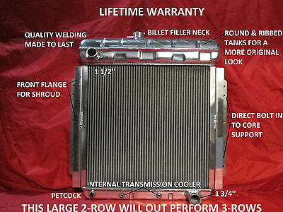 1953 Ford F100 Pickup - 1953 1954 1955 1956 Ford Pickup Truck F-100 Aluminum Radiator With Chevy Motor