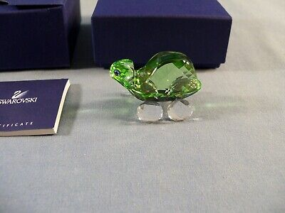 Swarovski Crystal #680848 Green Theo the Tortoise Figurine - MIB