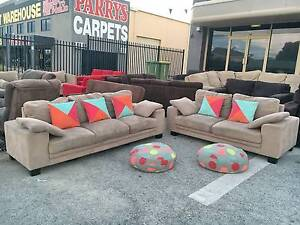TODAY DELIVERY BIG MODERN CHOCOLATE 3X2 sofas set couches Belmont Belmont Area Preview