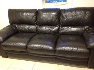 4 piece leather lounge used condition Plympton West Torrens Area Preview