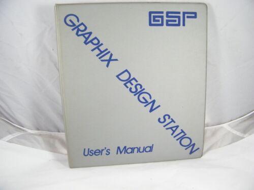 GSP GERBER SCIENTIFIC GRAPHIX DESIGN STATION USER