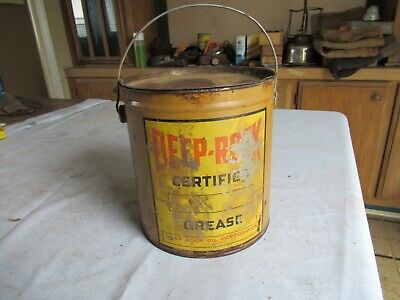 Vintage Deep Rock Grease Oil Can 10 lbs Only 1 on eBay Lot 20-95-25