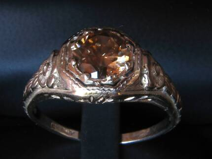 14ct White Gold 0.80ct Cognac Diamond Ring $2,900 Valuation Neutral Bay North Sydney Area Preview