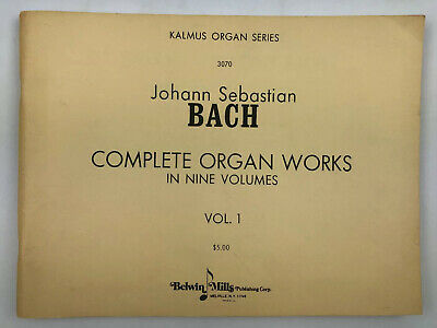 BACH-Complete Organ Works-Vol. I- Belwin-Mills-Sheet Music Book- Vtg Complete Works Music Book