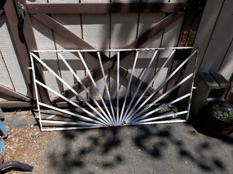 Mid Century Modern Iron Garden Gate or Architectural Fence Panel