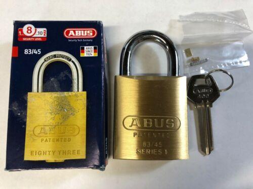 NEW Abus 83/45 Brass Lock Padlock Rekeyable OB #400