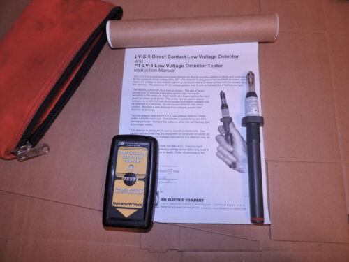 HD Electric LV-S-5 & PT-LV-5 Low Voltage Detector,Tester for Stray Voltage 600V