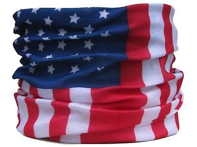 Neck Tube American Flag Stars & Stripes USA hat skiing biker  Snood base layer Base Layer Neck Tube
