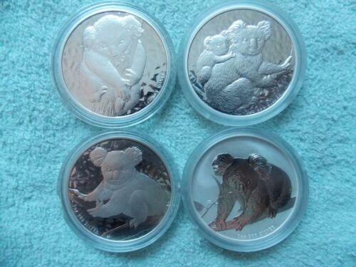 2007-2008-2009-2010 AUSTRALIAN SILVER KOALA BU (Set of four 1 oz Coins)
