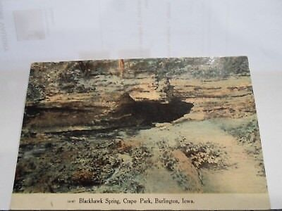 Blackhawk Park (Burlington Ia Iowa, Blackhawk Spring, Crapo Park  early postcard )