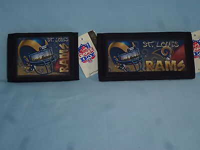 ST. LOUIS (now Los Angeles) RAMS  TriFold Wallet & Checkbook Set  NEW!