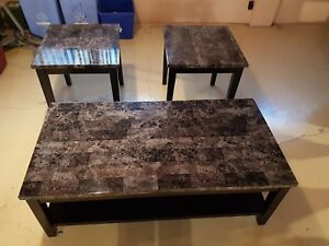 Coffee table and end tablss