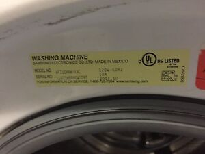Samsung front loader washer and dryer combo