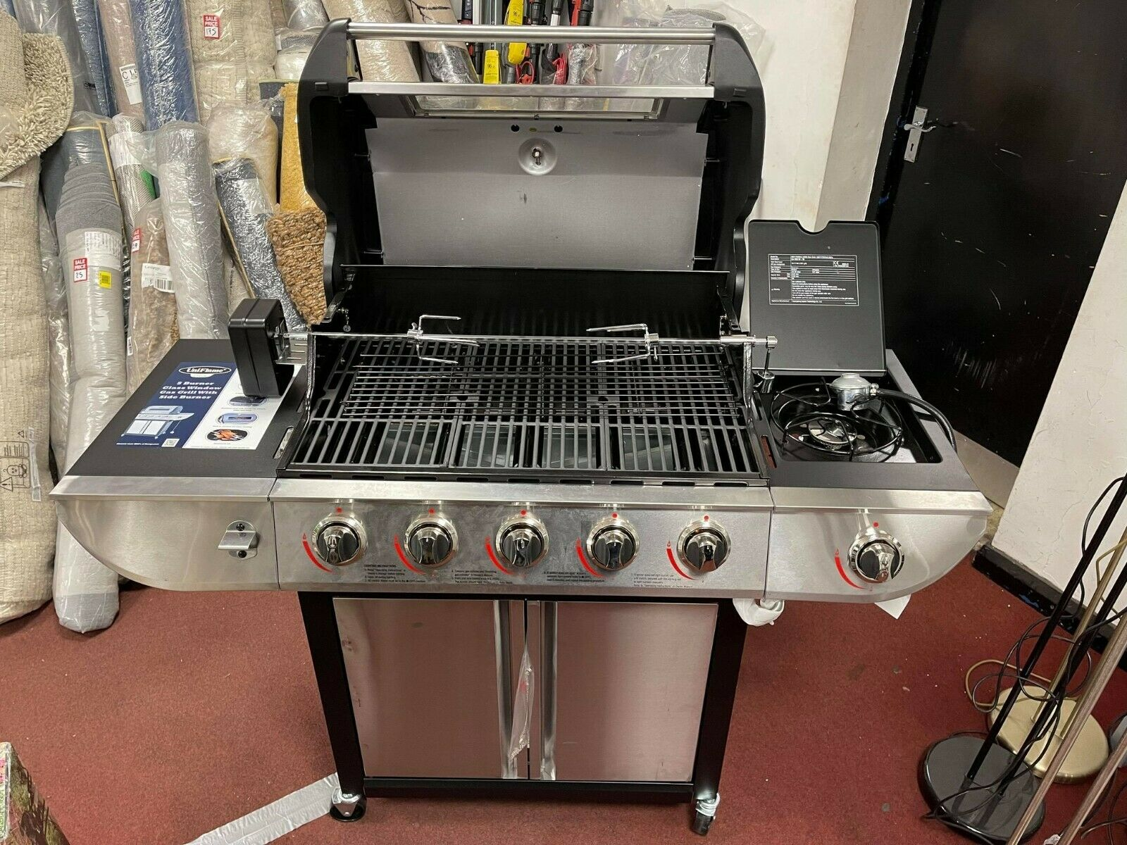 Uniflame Classic 5 Burner And Side Gas Grill Outdoor Cooking Outdoor
