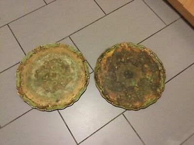 2 X Old/Vintage paper Mache Trays