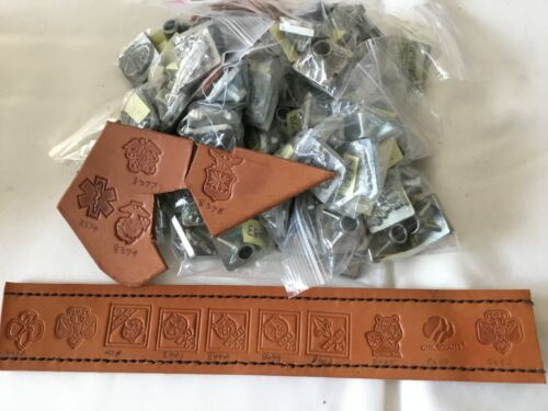 SELECT Lot#1 Vtg Craftool CoUSA 2-3D Leather stamp, Flat Rate shipping