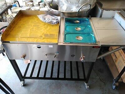Taco Cart 39 Food Cart Plancha Para Tacos Griddle Cart With Steamers