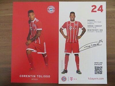 Autogrammkarte AK *CORENTIN TOLISSO* Bayern München 17/18 2017/2018 Frankreich