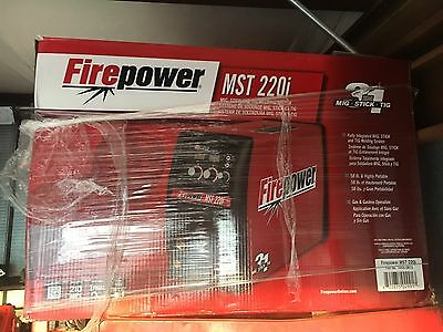 Firepower Mst 220i Black And Red Welding Power Supplies. Gas Tank Sold With It