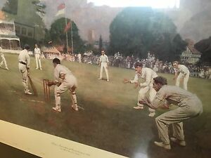 Cricket match art