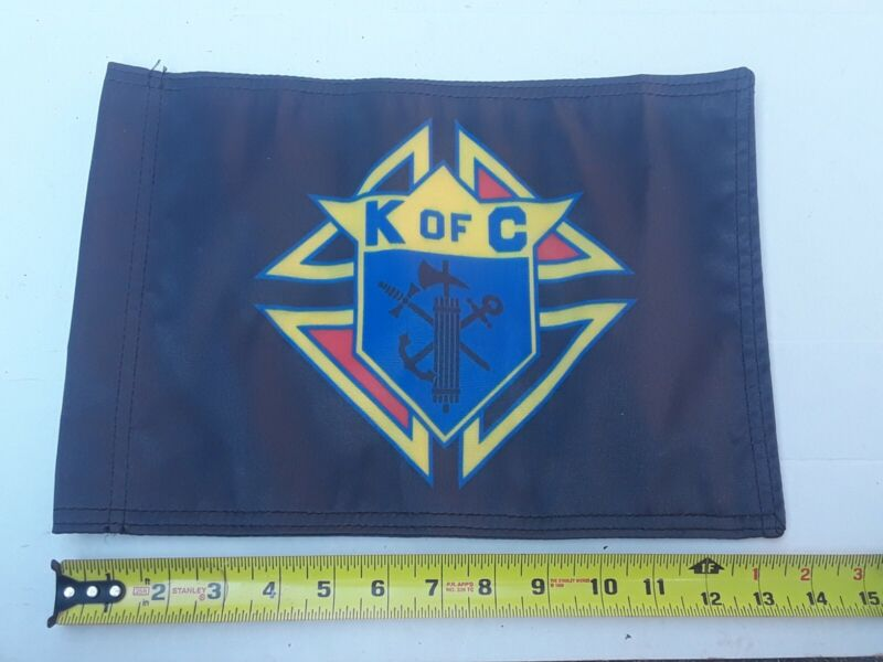 Vintage Knights Of Columbus MOTORCYCLE FLAG ~ DOUBLE SIDED~ NORTHSTAR FLAGS USA