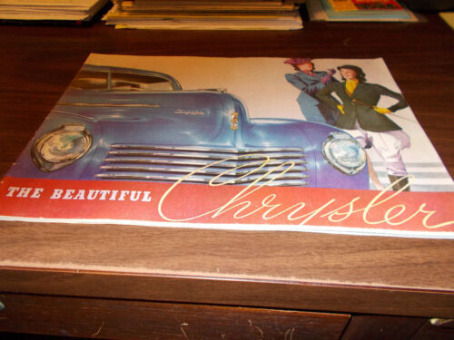 1940 Chrysler 40-page Deluxe Sales Catalog