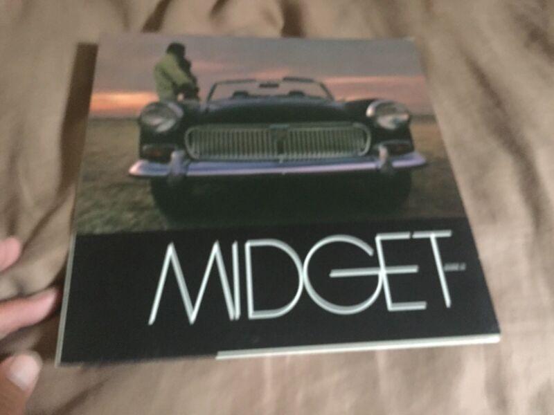 1969 MG Midget USA Market  Roadster Color Original Brochure Prospekt