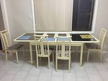 Italian dining table and display cabinet St Johns Park Fairfield Area Preview