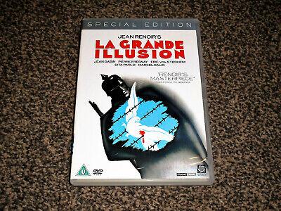 LA GRANDE ILLUSION : SPECIAL EDITION JEAN RENOIR FRENCH FILM DVD (FREE UK P&P)