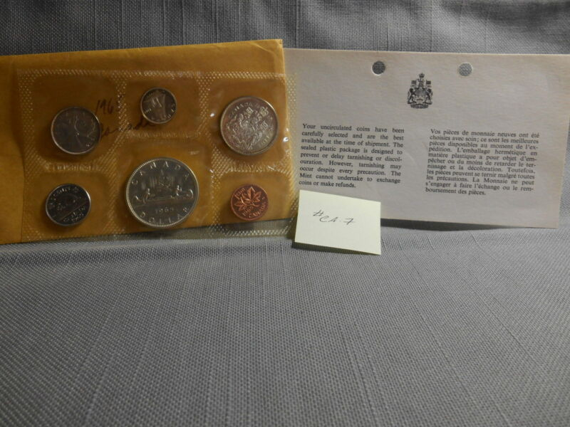 Canada Uncirculated 1965 VOYAGEUR PL 6 Coin Set Part Siver Ungraded CA-7