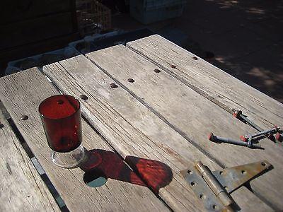 "Vintage 4 1/2"" Height x 2 5/8"" Diameter Ruby Red Stemmed Glass Set of 1 FRANCE"