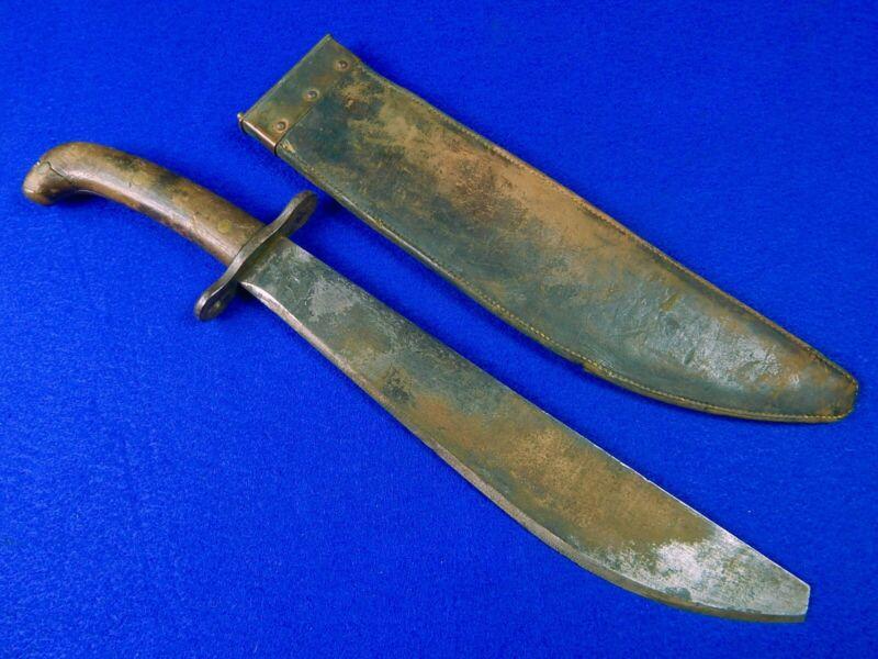 US WW1 Antique Model 1909 SA Bolo Fighting Knife w/ Scabbard