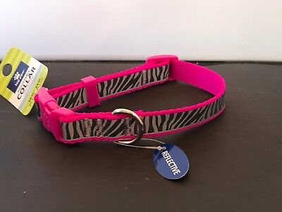 Top Paw Zebra Reflective Dog Collar for Small Dog