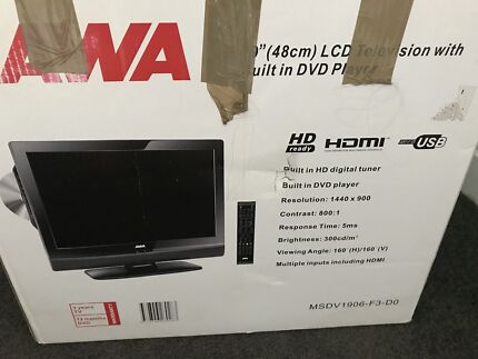 AWA 19'' ( 48 cm) LCD television with built in DVD player