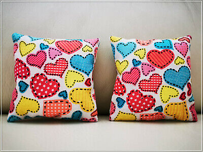 Set of 2 Cushions for Barbie, Sindy, etc Doll House Furniture, bed accessories