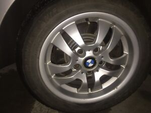 ALMOST BRAND NEW BMW WINTER TYRES (5/120 bolt pattern)