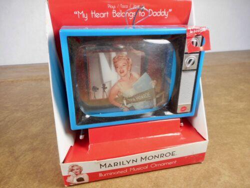 "MARILYN MONROE ILLUMINATED MUSICAL ORNAMENT - ""MY HEART BELONGS TO DADDY"""
