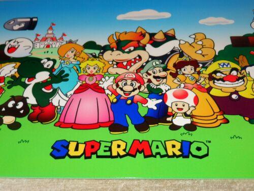 "VINTAGE NINTENDO SUPER MARIO BROTHERS 12"" METAL NES 64 SNES VIDEO GAME GAS SIGN!"