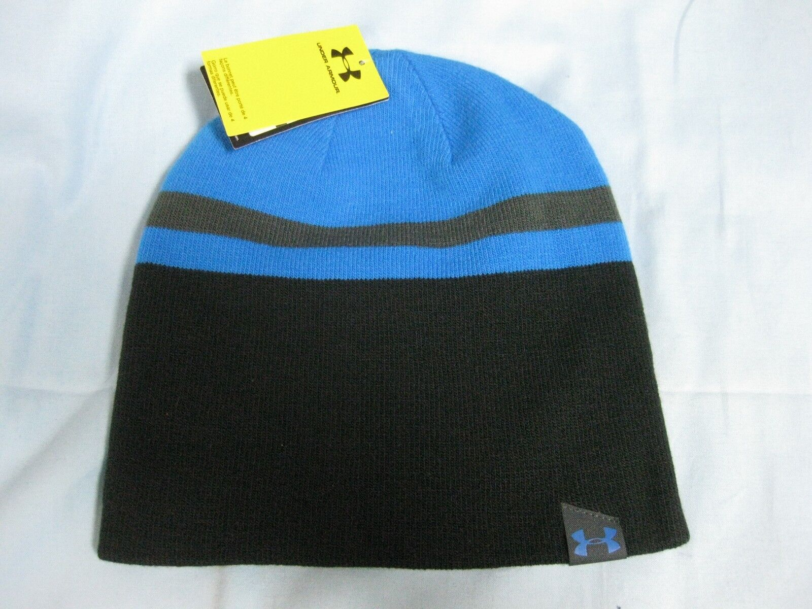 Under Armour Men's 4 In 1 Beanie Blue Jet
