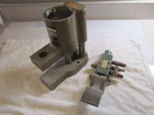 Burton manufactoring company air press foot valve operated