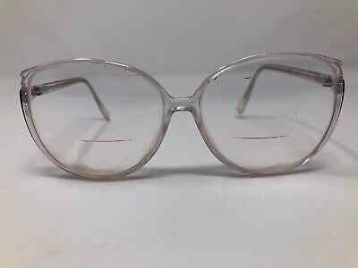 Silhouette Eyeglasses Clear Frames Round Cat Eye  Oversized 80s (Silhouette Eye Frames)