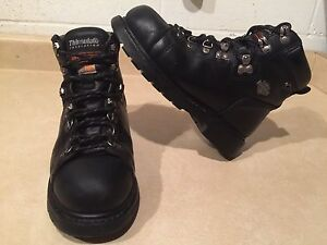 Men's Harley Davidson Steel Toe Work Boots Size 8