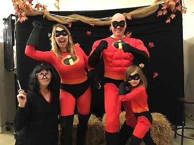 The Incredibles Family Costume (Family Coordinated Costumes: For Grandma EDNA MODE Deluxe THE)