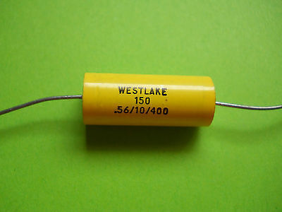 1 x 0.56uF@ 400V WESTLAKE / MALLORY HIGH QUALITY AXIAL FILM CAPACITOR